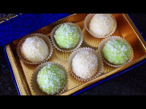 Coconut Mithai In 5 Minutes – 4 Ingredients only – Dessert Recipe by (HUMA IN THE KITCHEN)