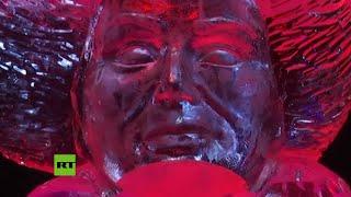 Exposición de esculturas de hielo en Berlín