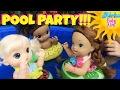 🏖 Pool Party For Baby Alive Dolls!!! 💦 Awesome Pool Floats! 🎈Bunch O Balloons & Lots Of FUN!!!😃