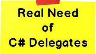 C# Delegates explained