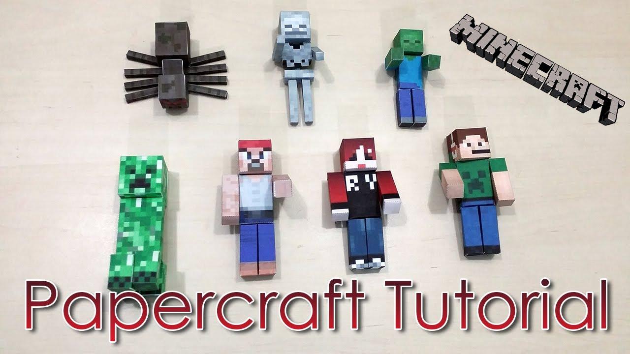Papercraft Tutorial Papercraft Minecraft - Ranma Yuuki