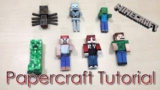 Tutorial Papercraft Minecraft - Ranma Yuuki