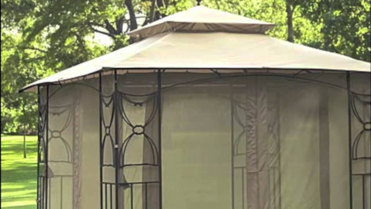 & Walmart Colonial Estates Gazebo Replacement Canopy - YouTube