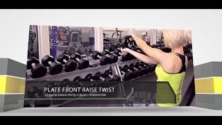 Plate Front Raise Twist - Подъем блина перед собой с поворотом