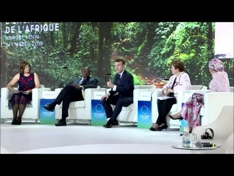 EMMANUEL MACRON AND UHURU KENYATTA AT UN ENVIRONMENT ASSEMBLY!!!