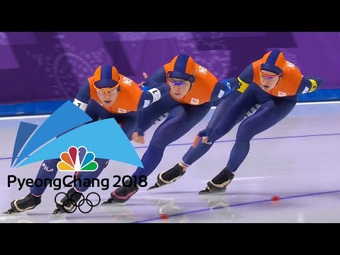 2018 Winter Olympics I Ladies' Team Pursuit Speed Skating in 360 VR