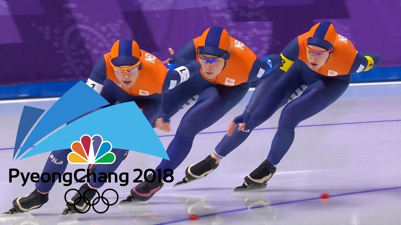 2018 Winter Olympics I Ladies' Team Pursuit Speed Skating in 360 VR