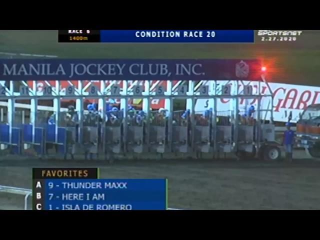 THUNDER MAXX - MJCI RACE 6 - FEBRUARY 27, 2020 - BAYANG KARERISTA HORSE RACING AT SAN LAZARO