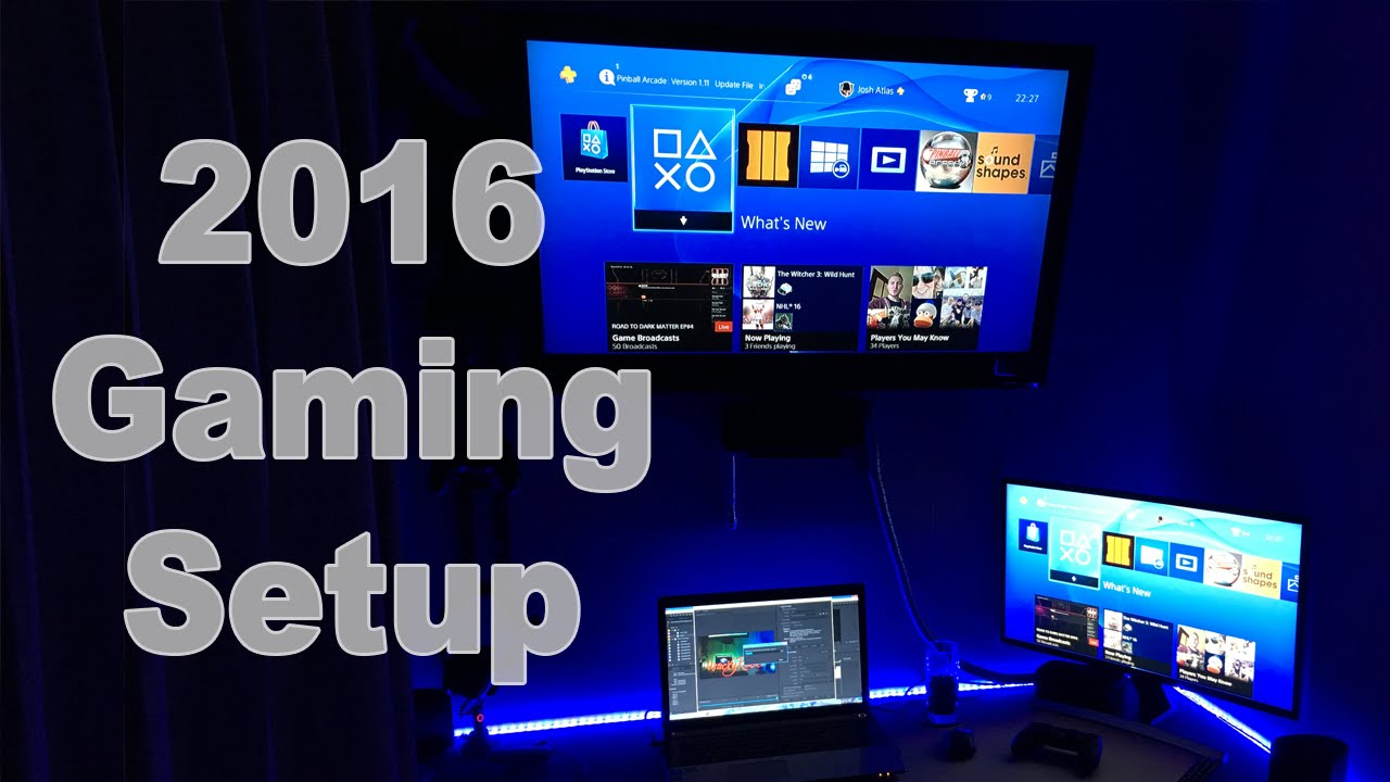 ULTIMATE GAMING U0026 YOUTUBE SETUP NEW FOR 2016!! Bedroom Setup   WackyRacer    YouTube