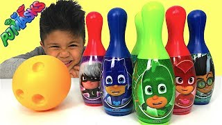 PJ Masks Bowling Set Indoor and Outdoor Fun Children Games Catboy Owlette Gekko Romeo TBTFUNTV