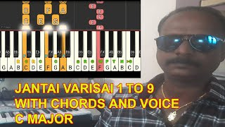 JANTAI VARISAI 1 TO 9 WITH CHORD AND VOICE / MY MUSIC MASTER