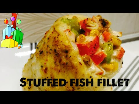 Baked Stuffed Fish Fillet With Crabmeat Recipe
