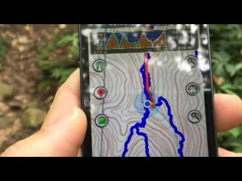 iOS 導航APP登山客--實地使用練習 - YouTube