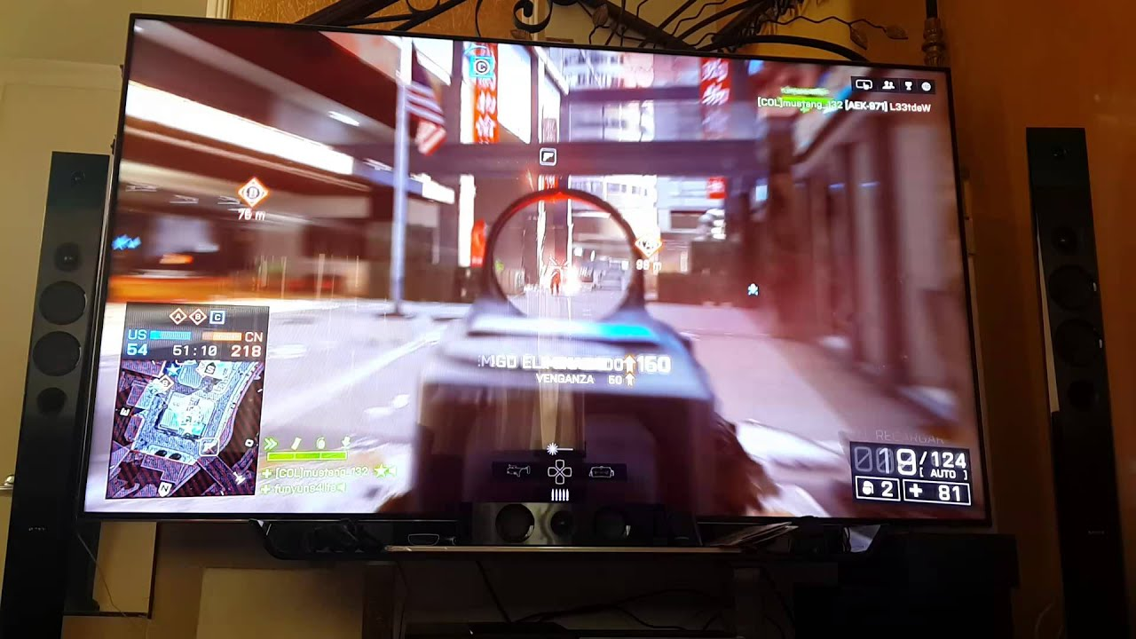 Playing Bf4 Ps4 In Tv Led 75 Quot Inch Samsung Youtube