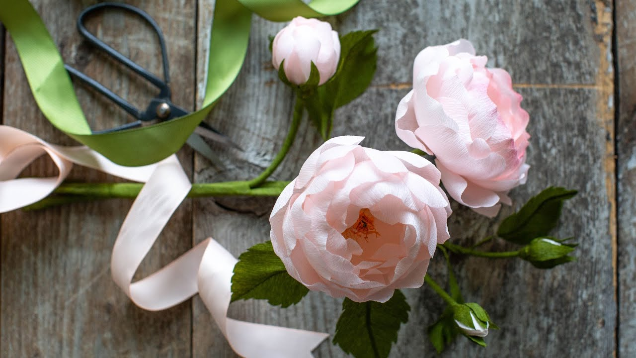 June Member Make Live Video: Crepe Paper Heirloom Roses