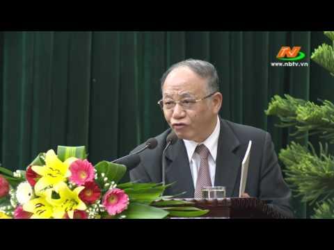 Giáo sư, Tiến sĩ Hoàng  Chí  Bảo nói chuyện về Bác (tại Ninh Bình)