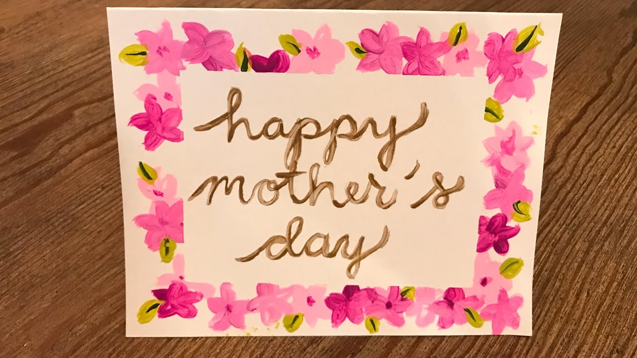 Homemade Mother's Day Card Kids Crafts DIY - YouTube