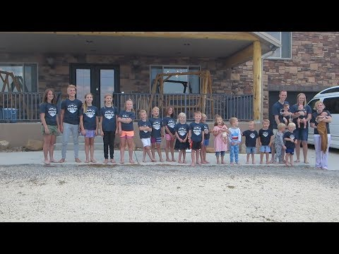 20 Grandkids In A Row 2018 Griffiths Reunion