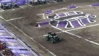 Monster Jam racing round 2 Raymond James Stadium Tampa Florida
