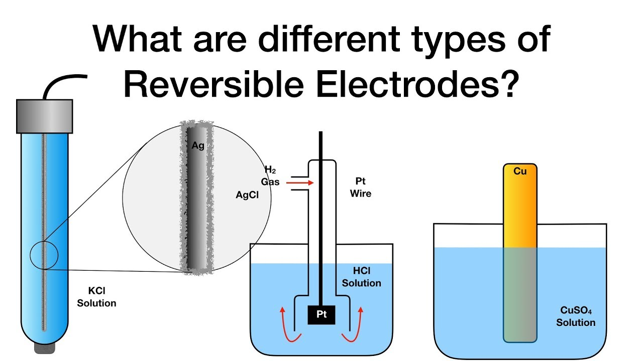 What are different types of Reversible Electrodes? | Electrochemistry |  Physical Chemistry