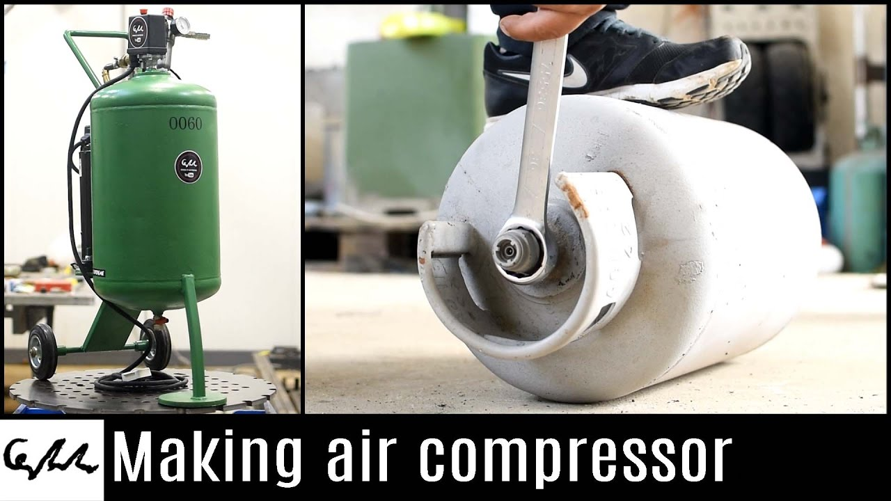 This Old LPG Tank Was Recycled to Make an Extreme Air Compressor