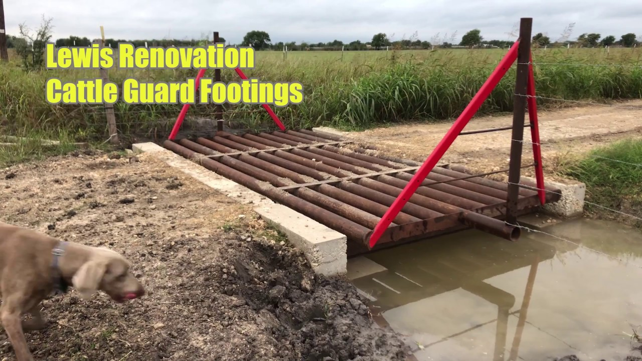 Cattle Guard Footings Youtube