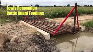 Cattle Guard Footings