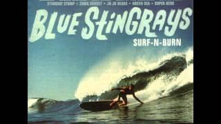 Blue Stringrays - Green Sea