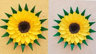 Wall Hanging From Disposable Plate and paper // DIY Home Decoration  // Easy Wall decor Idea