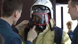 Сюжет о проведении урока безопасности сотрудниками СУ ФПС № 8 МЧС России в СОШ № 80