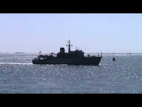 HMS Brocklesby M33 in Plymouth Sound 31.08.14