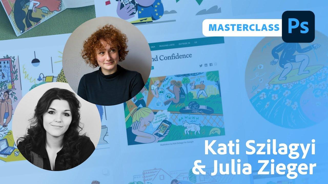 Illustration Masterclass mit Kati Szilagyi und Julia Zieger  Adobe Live