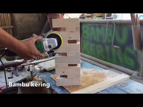 Cara Membuat Lampu Sudut Minimalis dari Limbah Kayu
