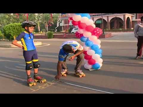 Indian Boy Made World Record in Slalom Skating - Live Video