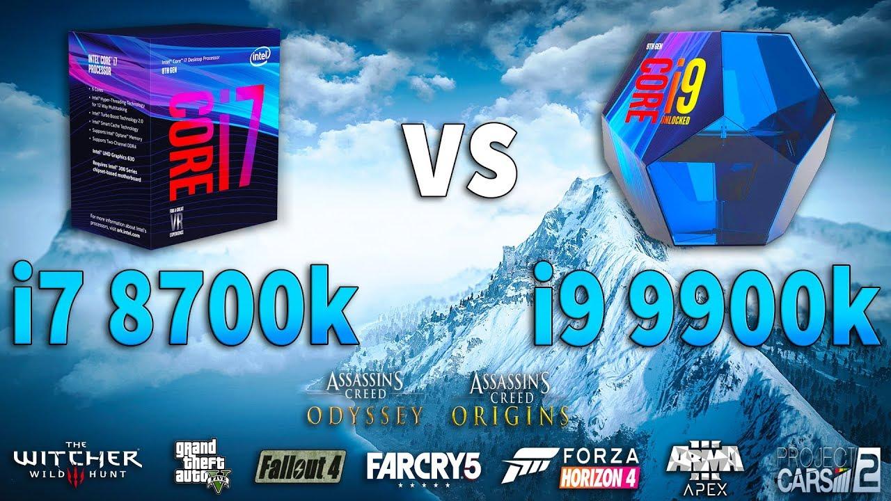 i9 9900k vs i7 8700k Test in 9 Games