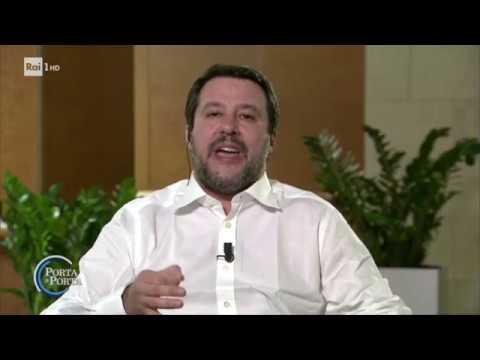 """Matteo Salvini: """"Tutti contro tutti"""" - Porta a porta 22/01/2020"""