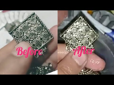 How to clean your Metal earrings||clean your Silver jewelry at home||
