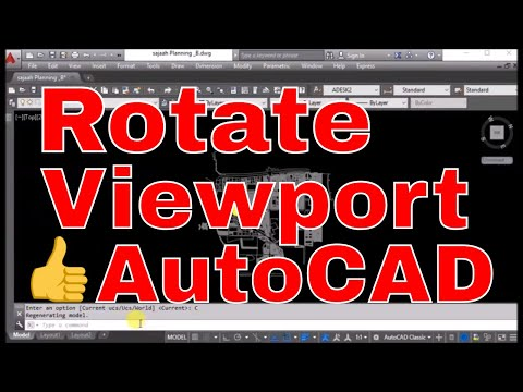 How to Rotate Autocad Drawing UCS in Model Space - Rotate View -Online Free Tutorial Classes