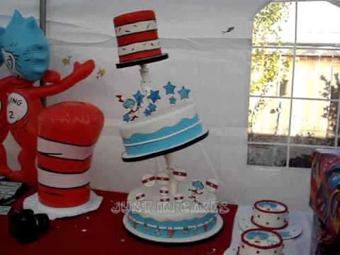 Thing 1 and Thing 2 Cake YouTube