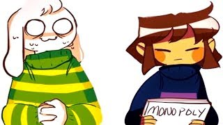 Asriel & Frisk's monopoly game doesn't go well. (Undertale Comic & Animation Dubs)