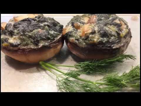 Champignons De Paris Farcis Aux Epinards Recette Vegetarienne Youtube