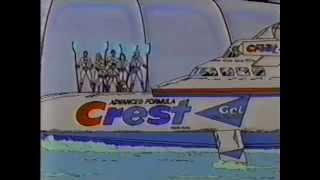 80 Anzeigen in: Fortschrittliche Formel, Gel-Zahnpasta Crest Cartoon