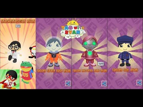 Tag With RYAN Game App - Tag W/ Ryan Gameplay - Unlocking Costumes