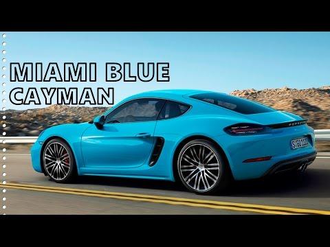 Download Miami Blue Porsche 718 Cayman - Driving, Exterior, Interior