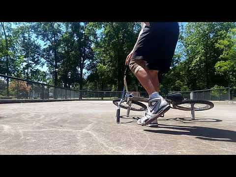 Flatland BMX Work in progress plastic man from peg wheelie bar spin Jason Kale