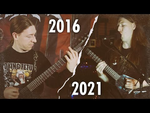"""Right-handed guitarist taught himself to play left-handed! OBVURT """"Scars of War"""" playthrough"""