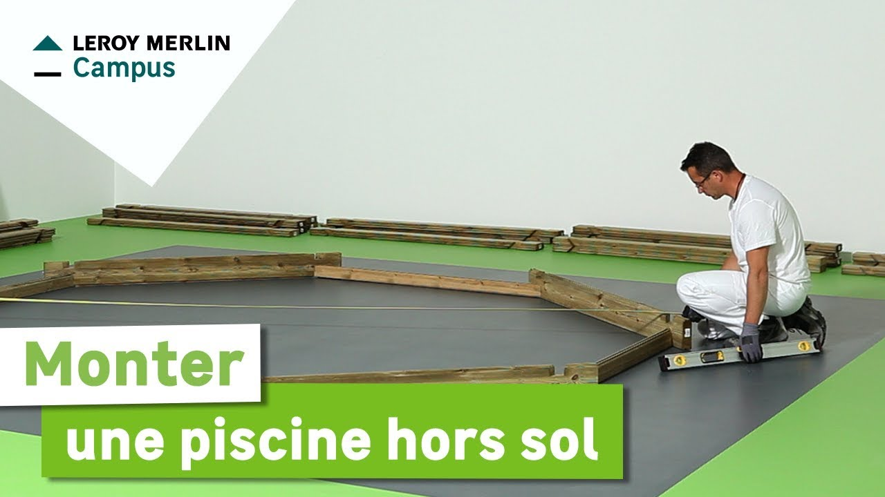 Comment monter une piscine hors sol leroy merlin youtube - Plaque beton sol exterieur ...
