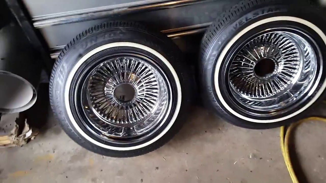 13x7 Dayton wire wheels. 72 spoke. Restored prestamp - YouTube