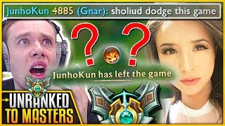 BOOSTING GONE WRONG ft. POKIMANE - Unranked To Masters | League of Legends