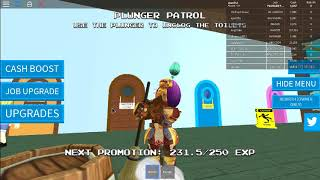 playing Fast Food Simulator in roblox